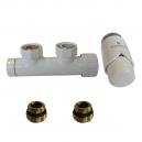 Zintegrowane podejście Duo-plex - Figura kątowa prawa + Głowica termostatyczna Schlosser Biała