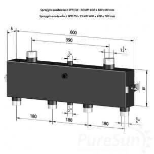 Sprzęgło-rozdzielacz C. O. do 75 kW - SPR 75i