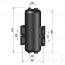 PureSun Sprzęgło hydrauliczne C. O. do 250 kW - SP 250/33