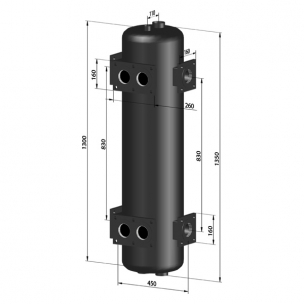 Sprzęgło dwustronne hydrauliczne C. O. do 750 kW - SP 750/33