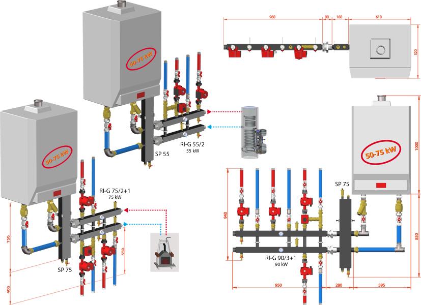 PureSun Sprzęgło hydrauliczne C. O. do 75 kW - SP 75